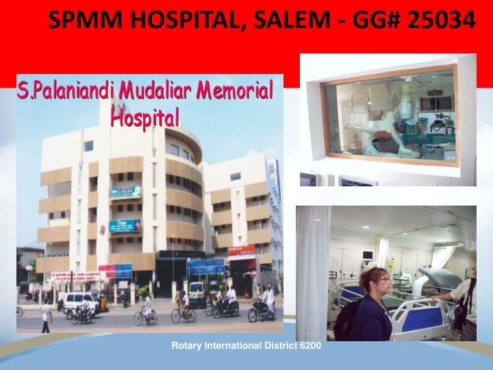 SPMM HOSPITAL, SALEM - GG# 25034