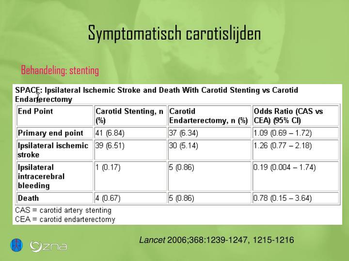 Symptomatisch carotislijden