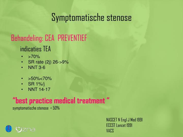 Symptomatische stenose