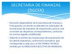 secretaria de finanzas dgcfa
