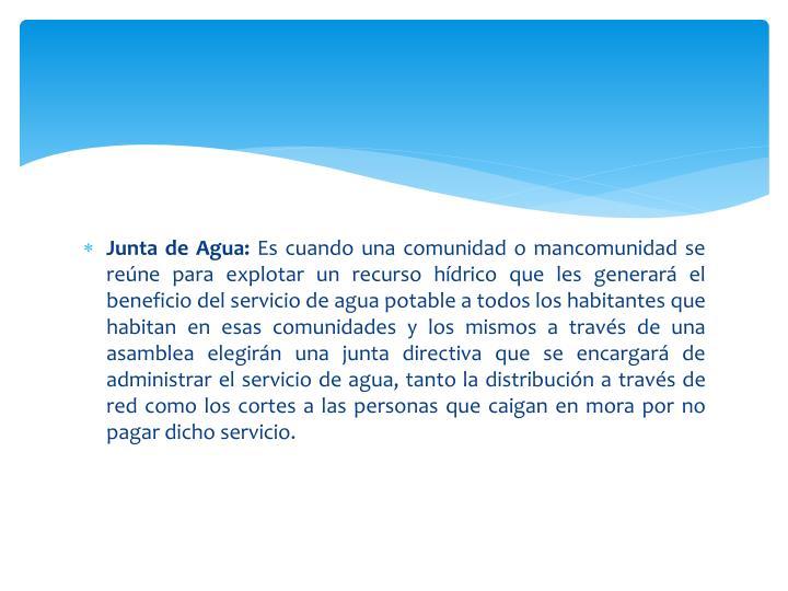 Junta de Agua: