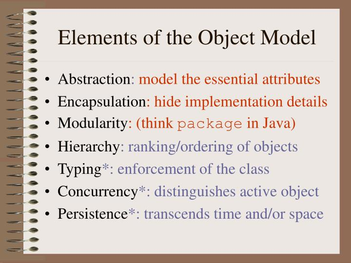 Elements of the Object Model