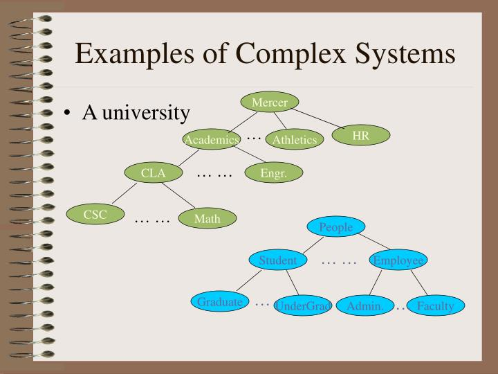 Examples of complex systems