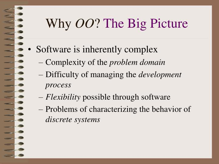 Why oo the big picture