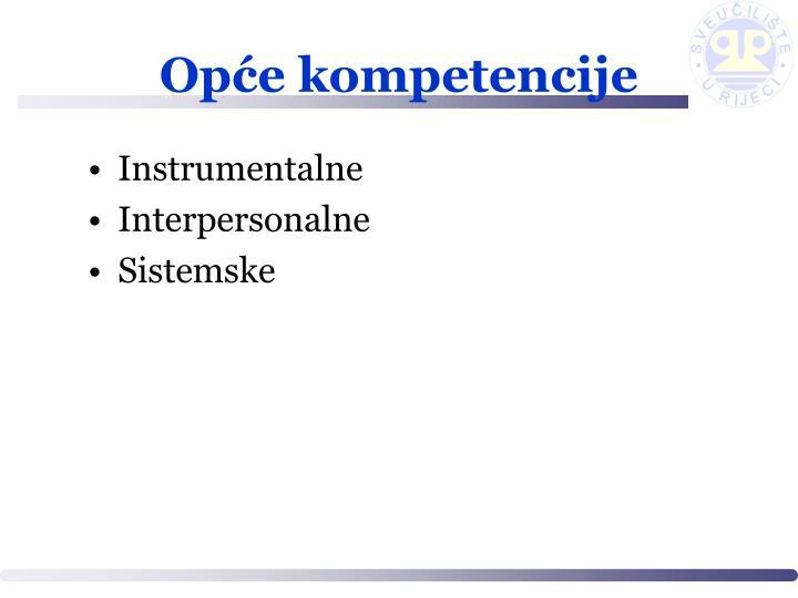 Opće kompetencije