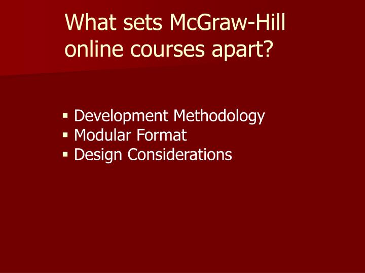 What sets McGraw-Hill