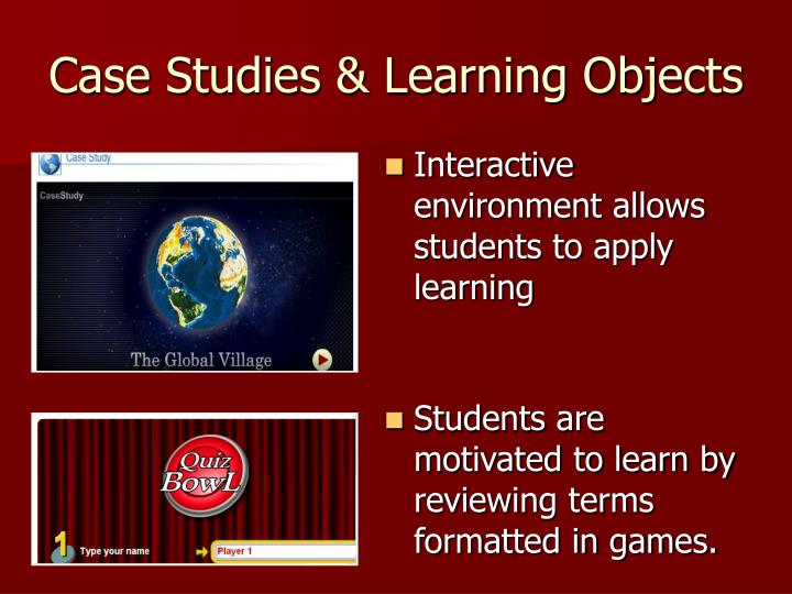 Case Studies & Learning Objects