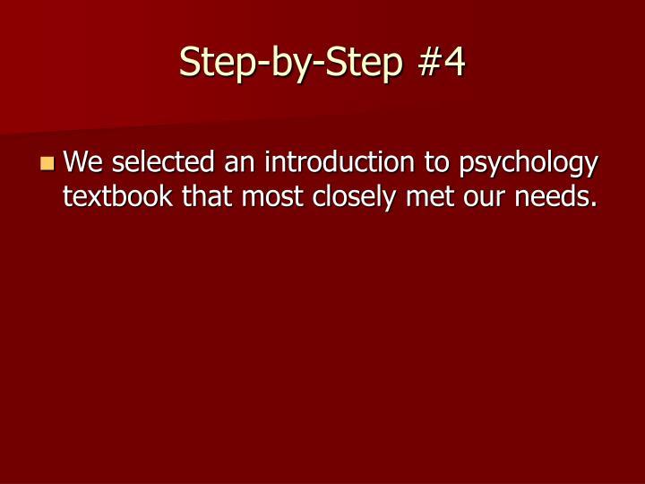 Step-by-Step #4