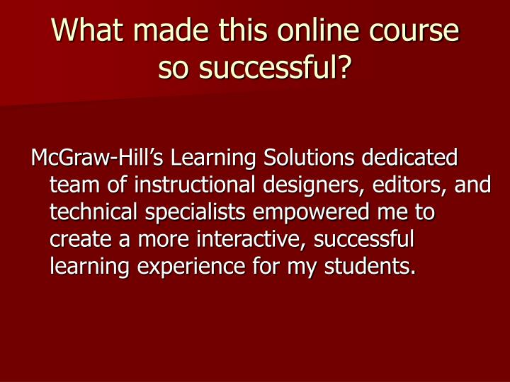 What made this online course so successful?