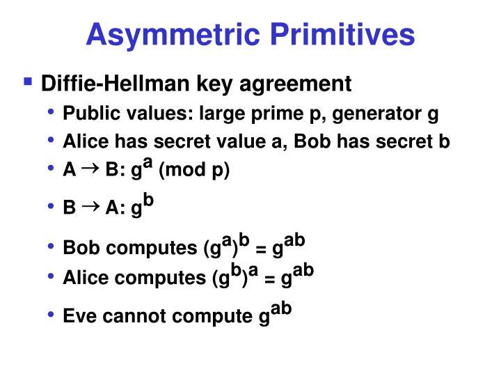 Asymmetric Primitives