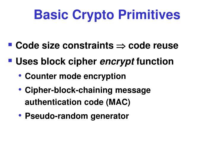 Basic Crypto Primitives