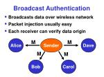 broadcast authentication