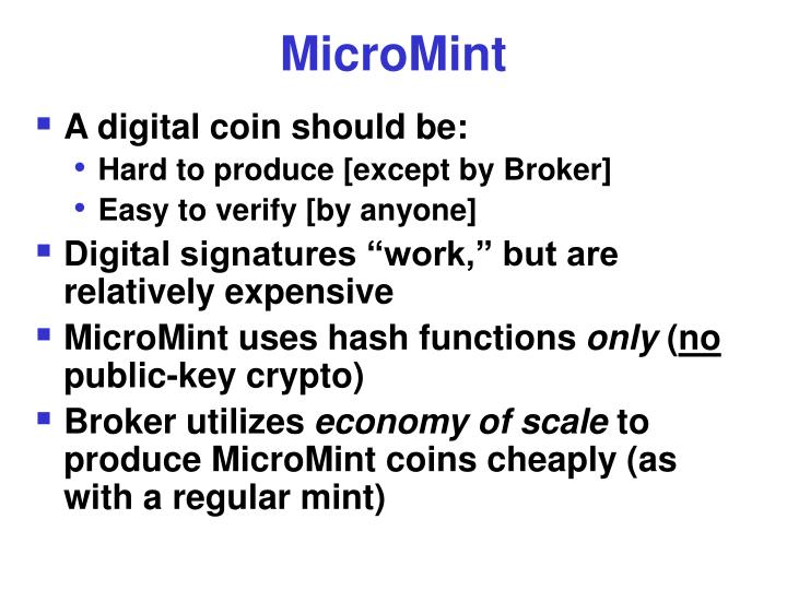 MicroMint
