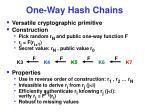 one way hash chains