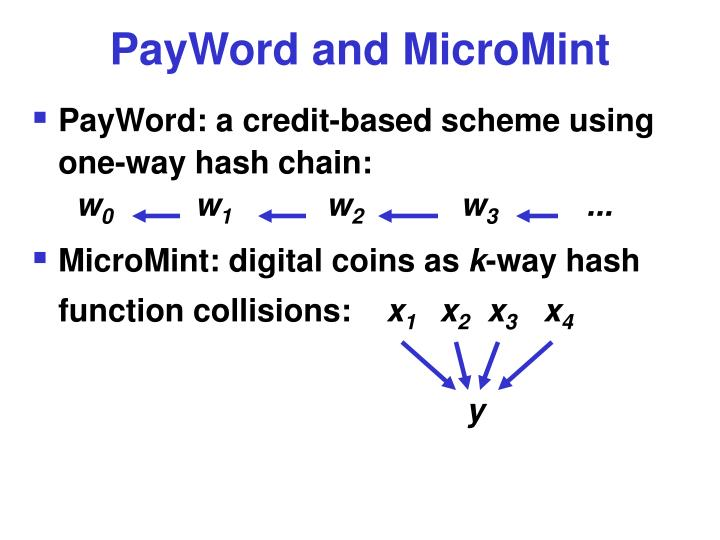 PayWord and MicroMint