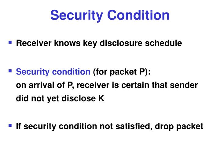 Security Condition