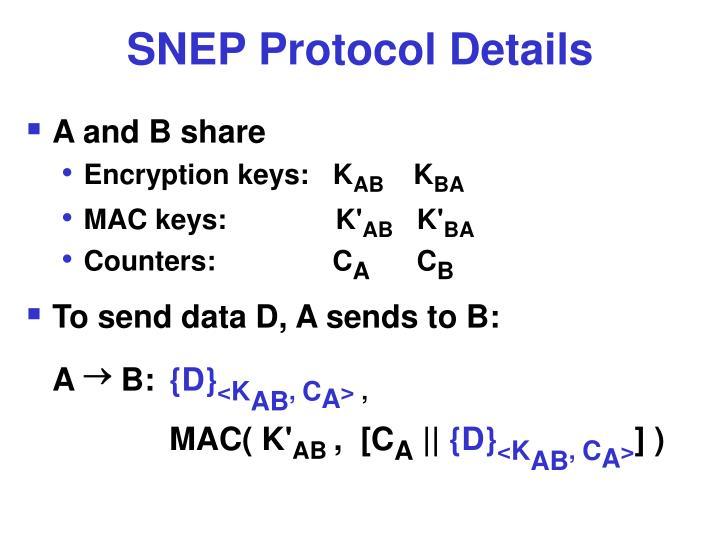 SNEP Protocol Details