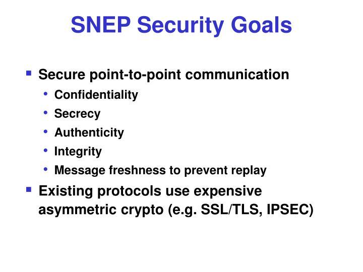 SNEP Security Goals