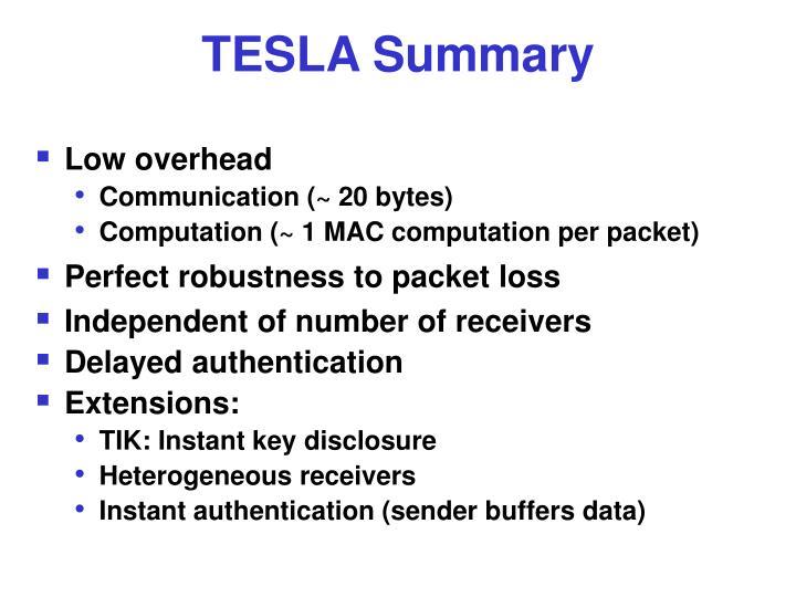 TESLA Summary