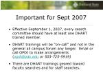 important for sept 2007