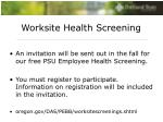 worksite health screening