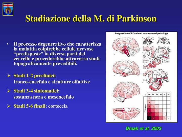 Stadiazione della M. di Parkinson