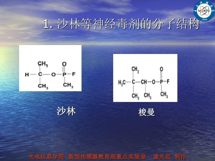 1. 沙林等神经毒剂的分子结构
