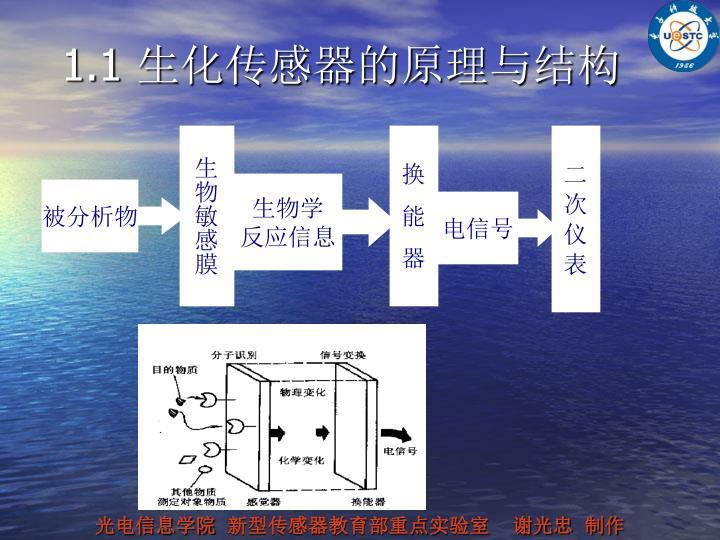 1.1 生化传感器的原理与结构