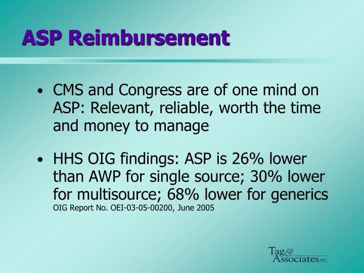 ASP Reimbursement