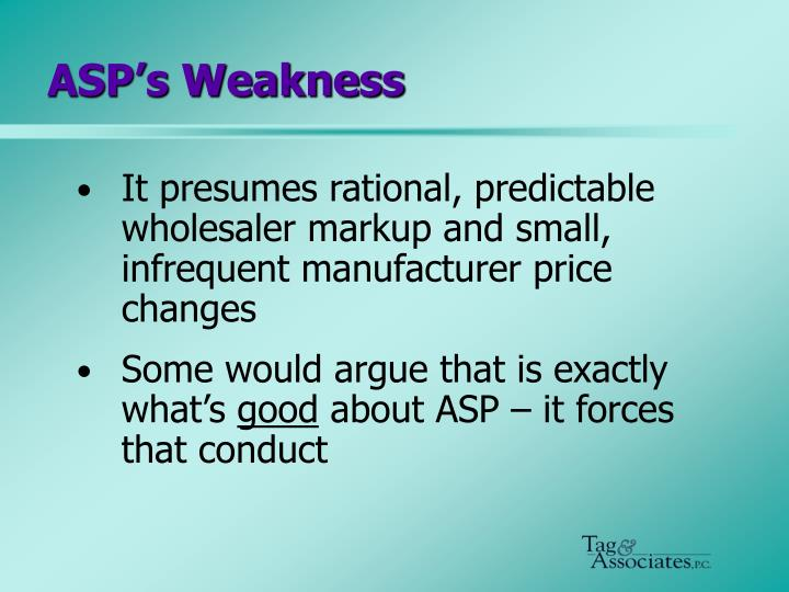 ASP's Weakness