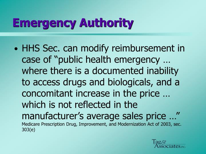 Emergency Authority