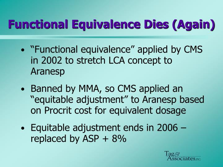 Functional Equivalence Dies (Again)