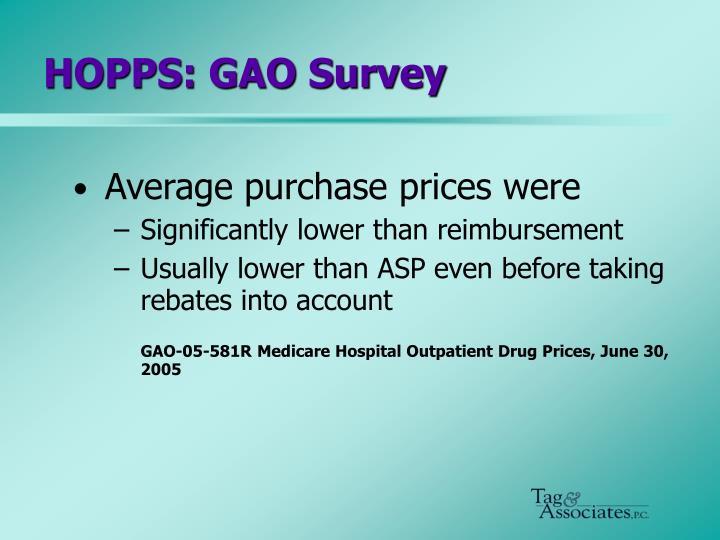 HOPPS: GAO Survey