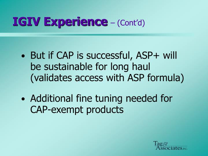 IGIV Experience