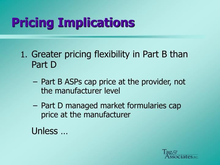 Pricing Implications