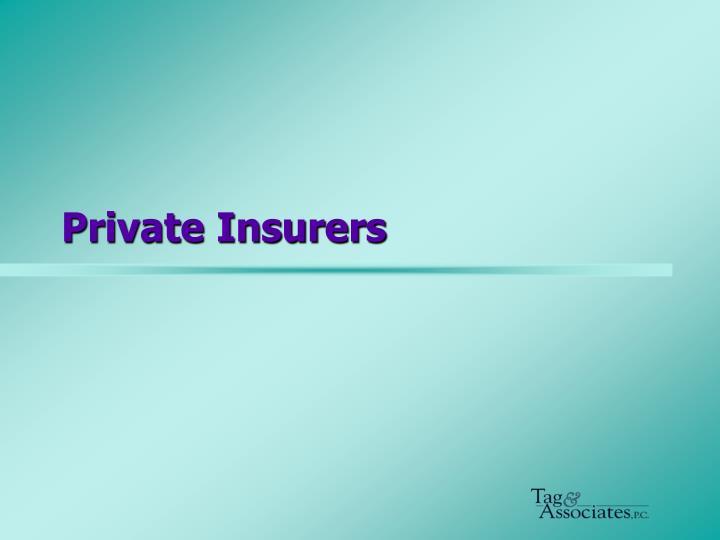 Private Insurers