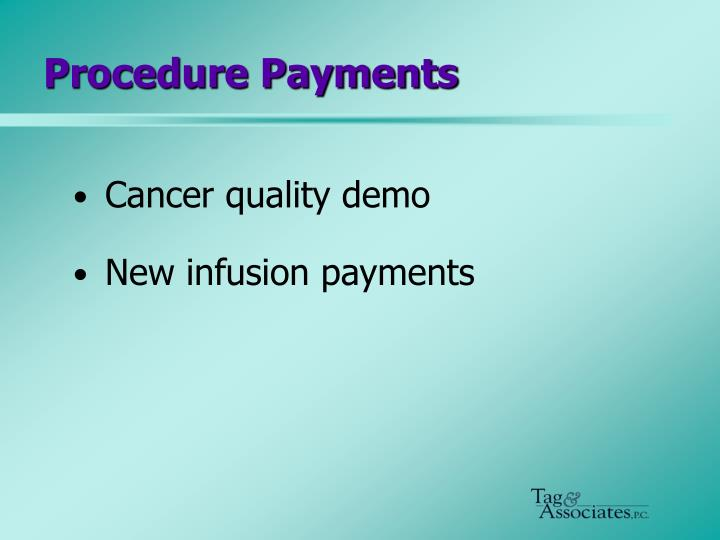 Procedure Payments