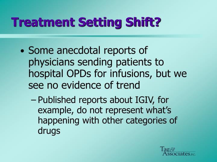 Treatment Setting Shift?