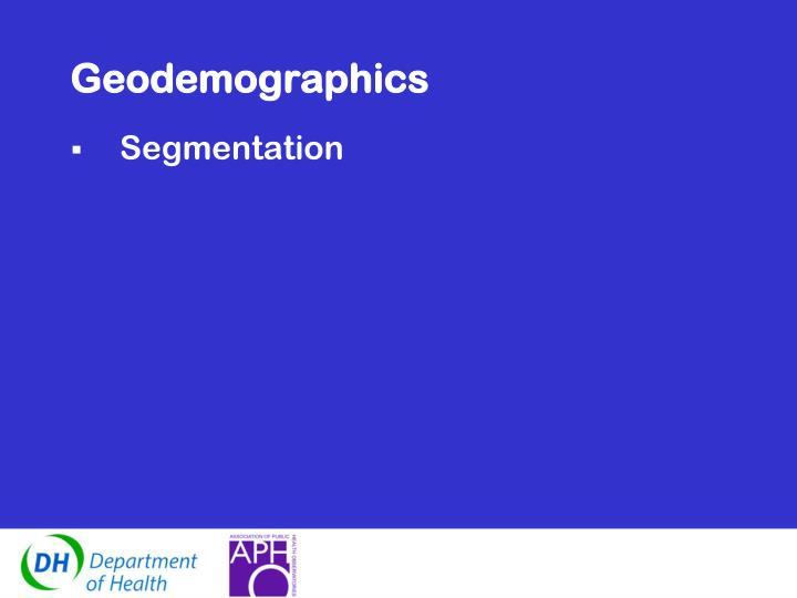 Geodemographics