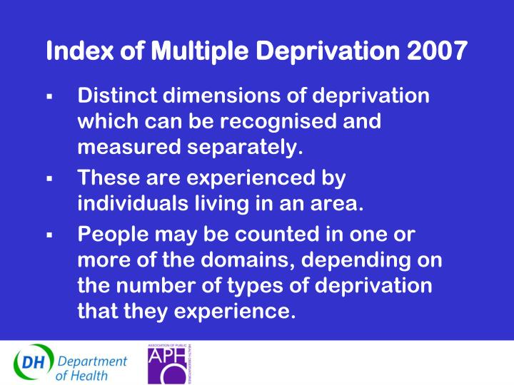 Index of Multiple Deprivation 2007