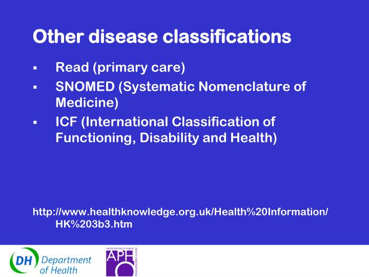 Other disease classifications