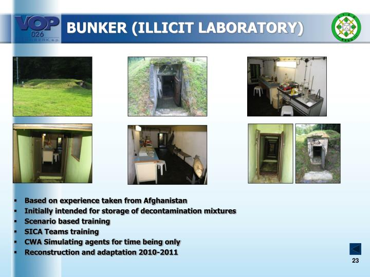 BUNKER (ILLICIT LABORATORY)