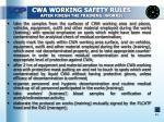 cwa working safety rules after finish the training works1