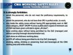 cwa working safety rules during training works2