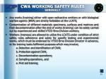 cwa working safety rules generally
