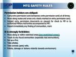 mtg safety rules