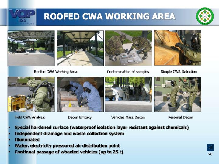 ROOFED CWA WORKING AREA