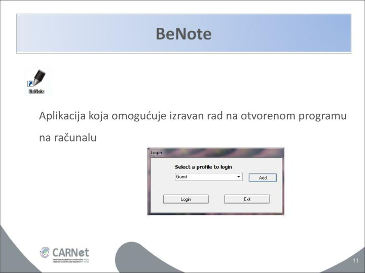 Aplikacija koja omogućuje izravan rad na otvorenom programu na računalu