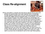 class re alignment