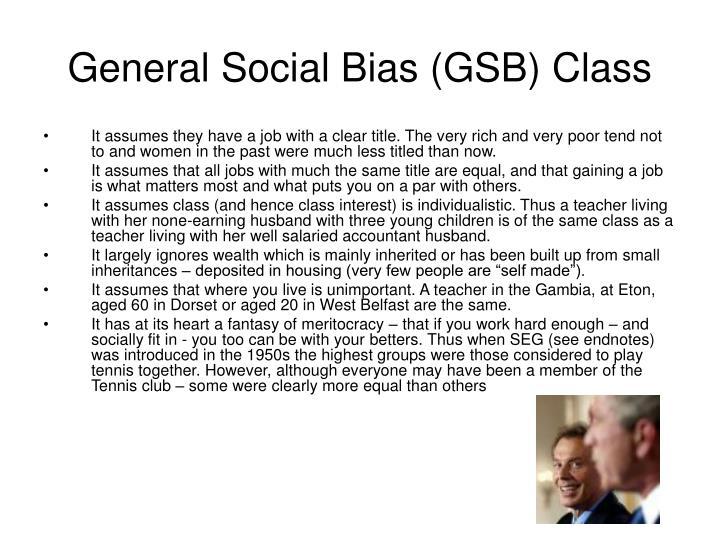 General Social Bias (GSB) Class